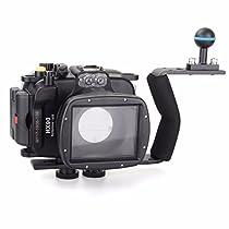 EACHSHOT 40m/130ft Underwater Diving Camera Housing for Sony HX90 + Aluminium Diving handle