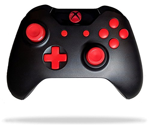 Xbox One Modded Rapid Fire Controller / Red LEDs / Custom Buttons / Drop Shot / Jump Shot / Quick Scope Compatible with Call of Duty & All Games