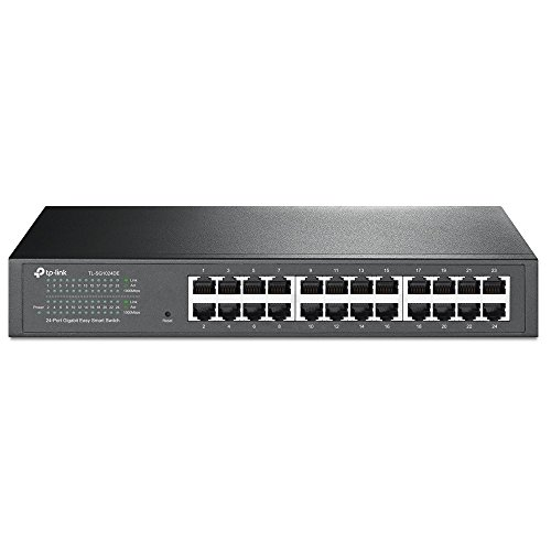 3com Ethernet Router - TP-Link 24-Port Gigabit Ethernet Easy Smart Managed Switch | Unmanaged Plus | Plug and Play | Desktop/Rackmount | Metal | Fanless | Limited Lifetime (TL-SG1024DE)