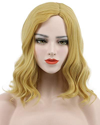 Karlery Women Long Loose Wave Blonde Fluffy Wig Halloween Cosplay Wig Anime Costume Party Wig]()