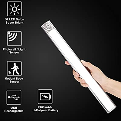 Motion Sensor Light, LDOPTO 10 LED Bulbs Battery Operated Wireless Motion Nightlight Portable Magnetic Security Closet Light Stick Up Motion Sensor Night Lights for Closets Hallway Stairway 3 Pack
