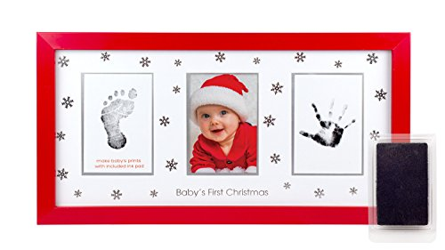 Ultrasound Baby Shower Invitations (Tiny Ideas Deluxe Baby's Prints Holiday Keepsake Photo Frame with Ink Pad to Create Handprint and Footprint, Red)