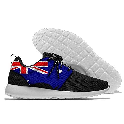 Yoigng Mens Australien Flagga Jogging Skor Sportgymnastik Skor