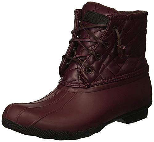 Saltwater Quilted Lux Boot, WINE, 6.5 M US