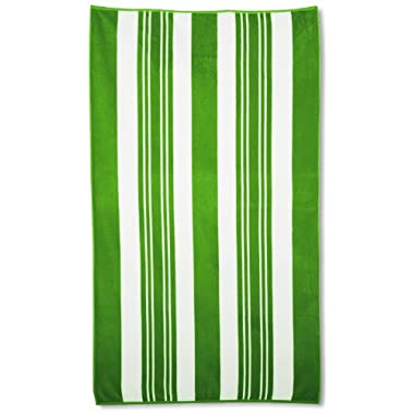 Northpoint Sorrento Combed Cotton Thick Terry Oversized Beach Towel, 40 by 70-Inch, Limoncello Lime