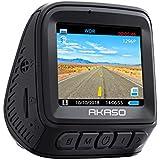 Dash Cam Car Recorder 1296P HD - AKASO Dashboard Camera, 170° Wide Angle, Super Definition Night Vision, with G-Sensor, Parking Monitor, Loop Recording, WDR, 2inch Screen, Auto Screensaver (V300)
