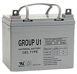 12V 32Ah U1 Wheelchair & Scooter Gel Battery