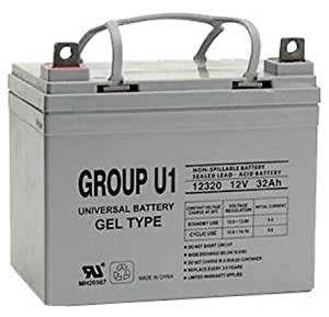 12V 32Ah Compatible Wheelchair Gel Battery for Pride Mobility Revo Scooter