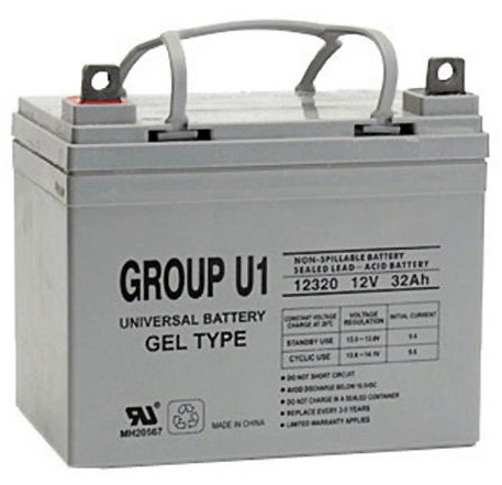Universal Power Group 12V 32Ah Gel Cell Scooter Battery Pride Mobility Group (12v Gel)