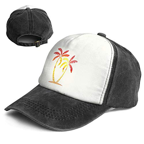 CABBAGE Palm Tree Adult Washed Trucker Baseball Cap Hat ()