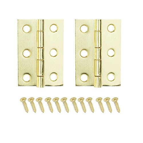 Everbilt 2 in. x 1-3/16 in. Bright Brass Middle Hinges -  19674