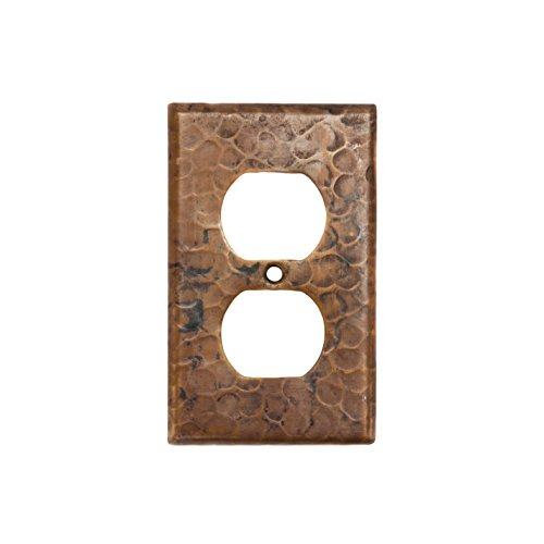 Premier Copper Products SO2_PKG2 Copper Switchplate Single Duplex, 2 Hole Outlet Cover - Quantity 2, Oil Rubbed Bronze
