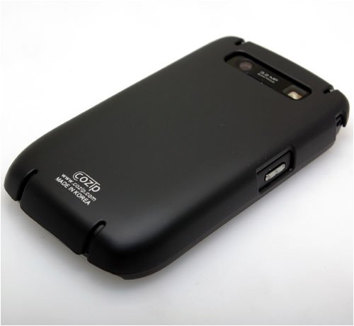 Cozip Brand Rubberized Polycarbonate Snap on Slim fit Case Cover for RIM Blackberry Javelin 8900 ( Black ) - Made in Korea