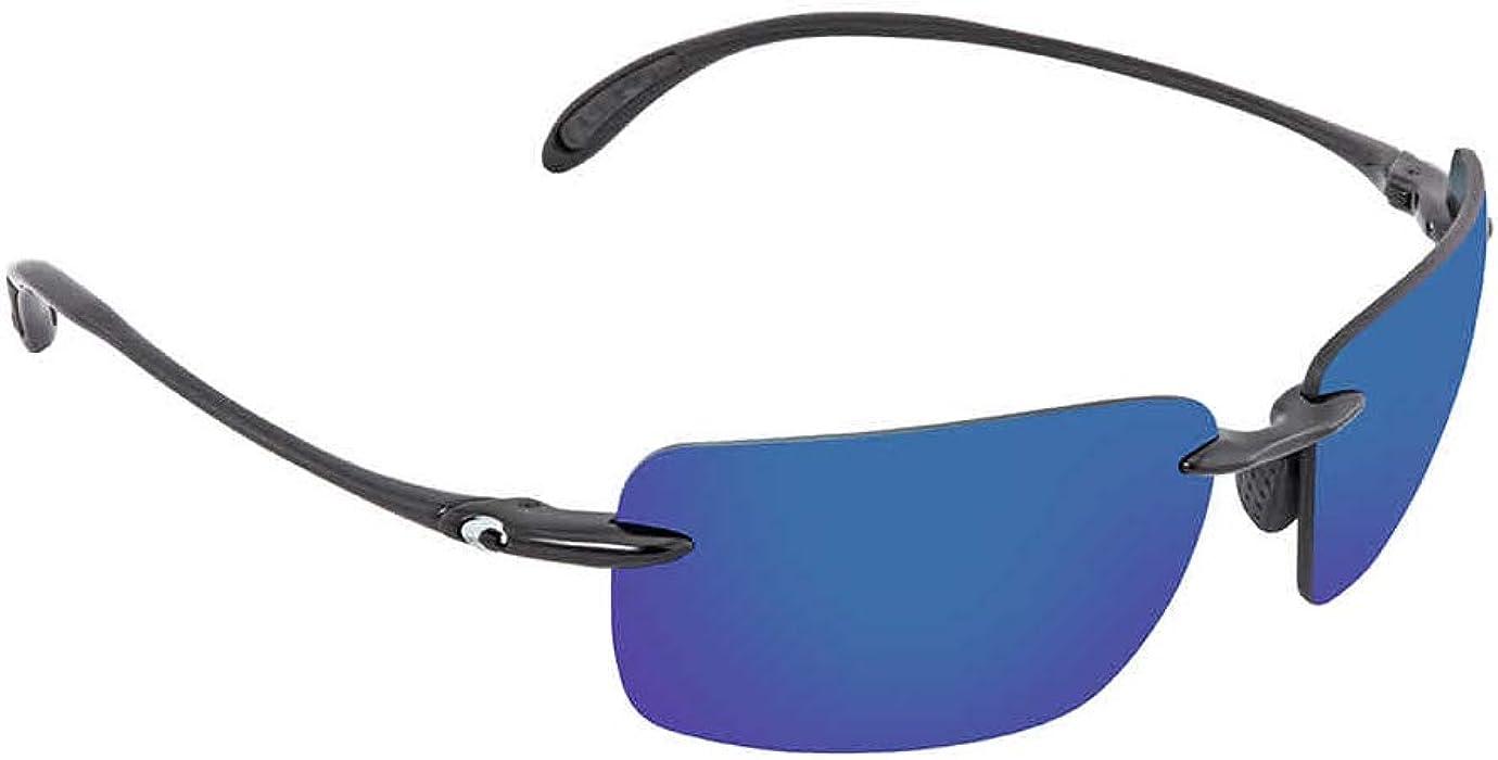 db9c6e4d5a9 Amazon.com  Costa Del Mar Gulf Shore Sunglasses Shiny Black Blue Mirror  580Plastic  Sports   Outdoors