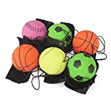 itisyours 12 pcs Return Rubber Sport Ball on Nylon