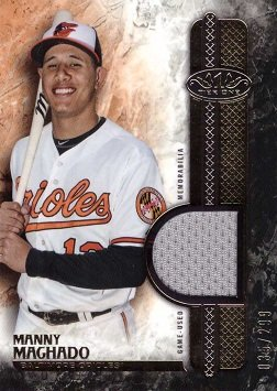 2016 Topps Tier One Relics #T1R-MMA Manny Machado Game Worn Jersey Baseball Card - Only 299 ()