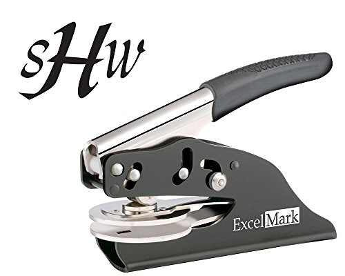 ExcelMark Hand Held Embosser - Monogram Gift Embosser – Style 56 by ExcelMark