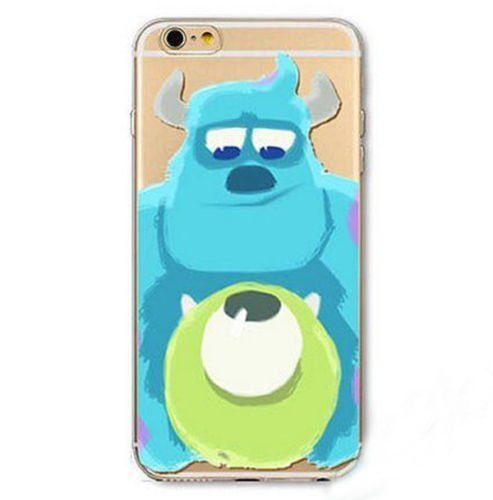 iPhone 5 / 5s Case, DECO FAIRY® Protective Case Bumper Ultra Slim Translucent Silicone Clear Case Gel Cover for Apple- Blue Green Monsters