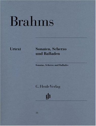 Sonaten, Scherzo und Balladen. Klavier