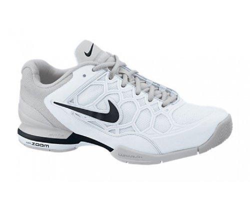 NIKE Zoom Breathe 2K11 Damen Tennis Schuhe, Weiß/Silber/Schwarz, 42 -
