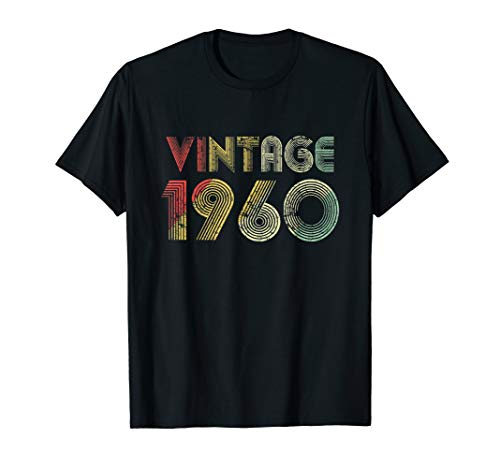 Retro Vintage 1960 TShirt 59th Birthday Gifts 59 Years Old -
