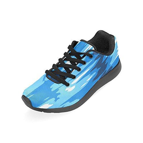 Zenzzle Mujer Para Lona Zapatillas Negro Negro de de Running 7pwU7rqa