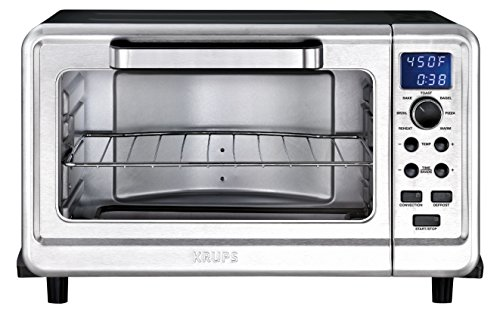 KRUPS OK505851 Digital Toaster Oven with 12 preset functions, 6-Slice, Silver