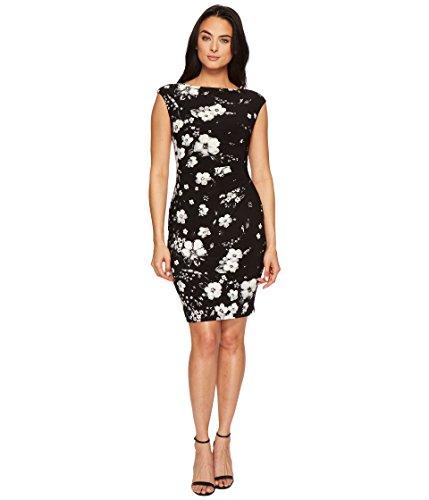 Lauren Ralph Lauren Women's Novellina Assouline Floral Boarder Matte Jersey Dress Black/Colonial Cream/Multi 2