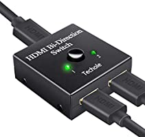 HDMI Switch, Techole HDMI Splitter Bidirektional 2 In 1 Out oder Schalter 1 In 2 Out, unterstützt 4 K 3D 1080P, HDCP...
