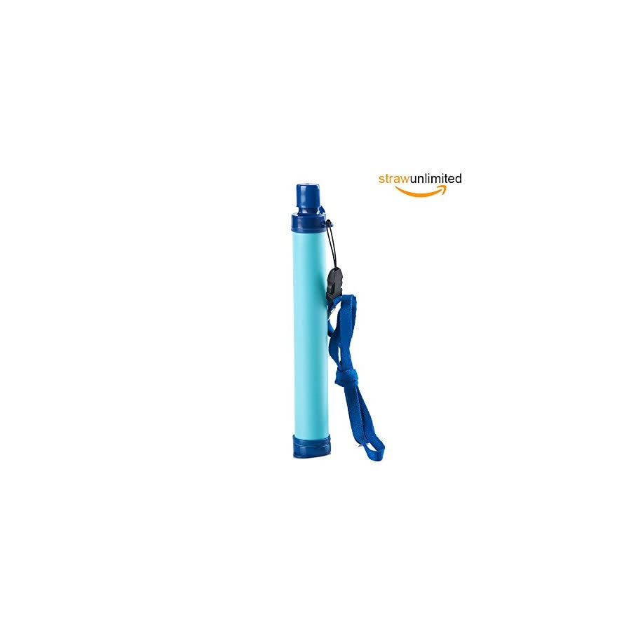 Membrane Solutions AquaStraw Personal Water Filter for Survival Gear,Hiking and Camping Kit