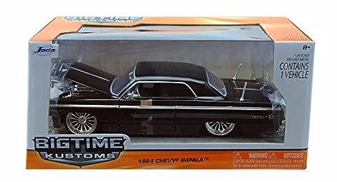 1964 Chevy Impala, Black - Jada Toys 96960 - 1/24 scale Diecast Model Toy Car