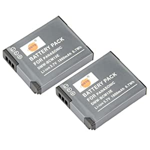 DSTE 2x DMW-BCM13 Replacement Li-ion Battery for Panasonic Lumix DMC-TZ60 ZS30 ZS35 ZS40 ZS45 ZS50 LZ40 TS5 TS6 TZ37 TZ40 TZ41 TZ55 Camera as DMW-BCM13E