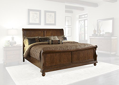 Liberty Furniture 589-BR-QSL Rustic Traditions Sleigh Bed, Queen, Rustic Cherry