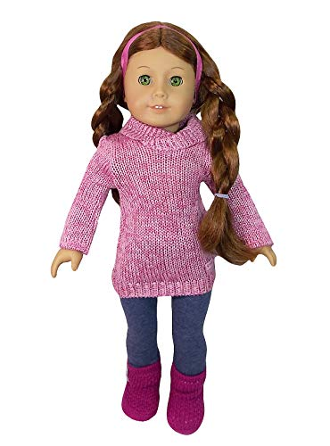 - American Girl Cozy Sweater Outfit for Dolls + Charm