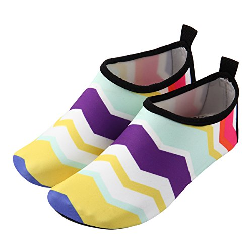 Happy cherry Zapatos de natación Niña Zapatills de Agua Para Piscina Playa Suela Antideslizantes Amarillo