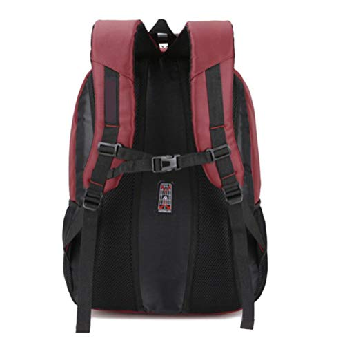 Waterproof Laptop Fashion Simplicity Backpack Men's Business Dhfud Casual Winered Bag ICwaBqI
