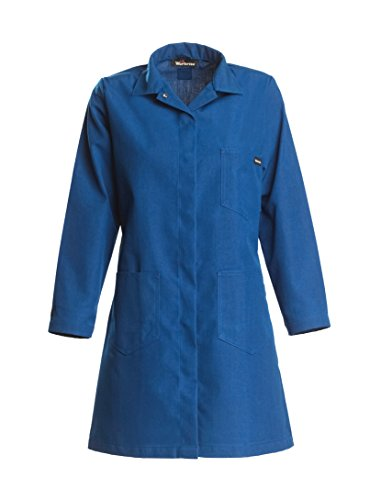 Nomex Lab Coats (WorkriteFR 351NX60RBSM 00  Nomex Flame Resistant Women's Lab Coat with Snaps, 6 oz, Small, Royal)