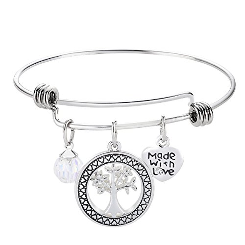 Love Bracelet Gifts- Wordless Love Family Where Life Begins and Love Never Ends Charms