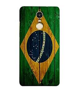 ColorKing Football Brazil 05 Multi Color shell case cover for Xiaomi RedMi Note 5