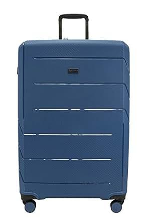 QANTAS London 79cm 4 Wheel Trolley Suitcase, (Steel Blue), (QF789-80-B)