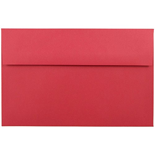 - JAM PAPER A10 Colored Invitation Envelopes - 6 x 9 1/2 - Red Recycled - 50/Pack