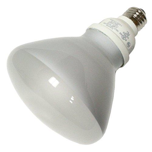(Case of 12) TCP 804023 - 23 Watt Compact Fluorescent R40 Flood Light Bulb, 2700K