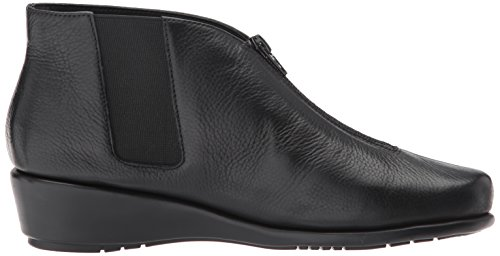 Aerosoles Women's Black Leather Ankle Boot Allowance q08wOqP