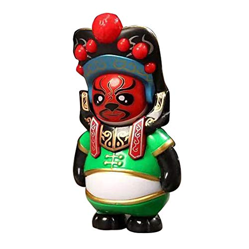 sJIPIIIk552 Chinese Character Toy Traditional Face Doll Drama Toy Lucky Jewelry Home Furnishings Creative Gift Best Wishes Green -