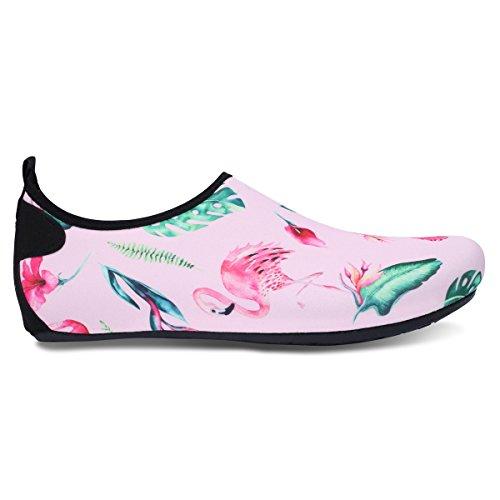 JIASUQI Womens Athletic Beach Walking Sandals Water Shoes for Park Flamingo US 7.5-8.5 Women, 6.5-7.5 Men
