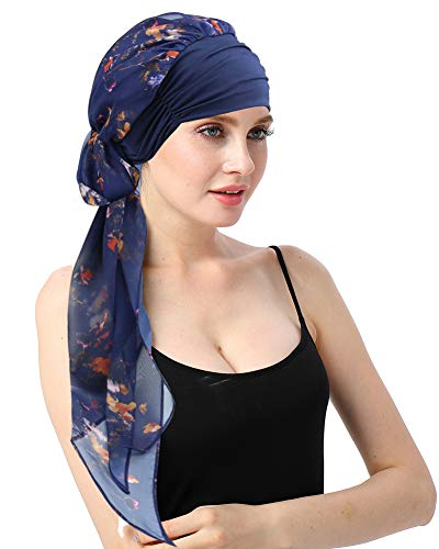 Chemo Headwear Turban Scarves Pre-Tied Head Wraps Bandana for Cancer-Medical Chemotherapy Patients Gifts
