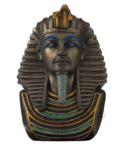 """4"""" Pharaoh Tutankhamun Bust Tut Egyptian Statue Figure Sculpture Egypt Decor"""