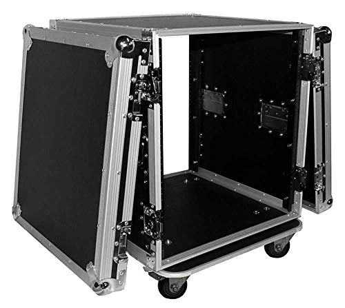 ProX Cases T-12RSS 12U - 12 Space Amp Rack - Road Gig Ready Flight Case W/Casters
