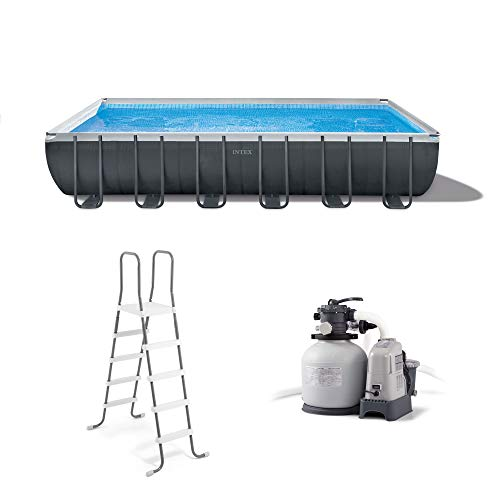 Intex Ultra 24 x 12 Foot XTR Rectangular Frame Swimming Pool Set with Pump Filter