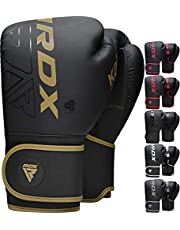 RDX Boxing Gloves Sparring Muay Thai, Premium Maya Hide Leather, Kara Patent Pending, Kickboxing MMA Fight Training, Punch Bag, Focus Mitts Pads, Double end Ball Punching Workout, Ventilated Palm